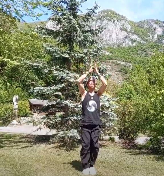 Le bienfaits de la salutation au soleil des Pyrénées: séance de yoga